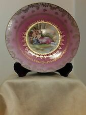 Victoria Austria Porcelain Plate Victorian theme Man w 3 Ladies by Kaufman - EUC