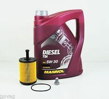 SCT Germany Ölfilter mit 5 Liter MANNOL SAE 5W-30 Diesel TDI Motoröl Ölwechsel