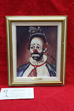 "RED SKELTON lithograph painting ""JOEY"" Clown framed signed numbered with COA"