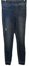 Spanx Small Distressed Denim Legging Jeans Medium Wash Mid Rise Shaping