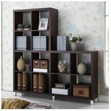 Cubby Bookcase Cube Cabinet Bookshelves Organizer Collectibles Display Large Woo