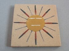 """CAT815 NAVAJO SAND PAINTING """"SUN EAGLE"""" SIGNED ALFRED B(egay)"""