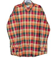 Orvis Multicolored Check Long Sleeve Mens Button Down Shirt Size XL-Extra Large