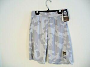 Under Armour University of Notre Dame Irish youth Medium YSM boys shorts camo