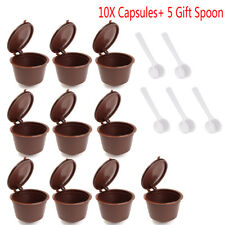 10 Reusable Coffee Capsule Cup Filter For Dolce Gusto Refillable Brewers Nescafe