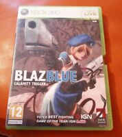XBOX 360 GAME BLAZBLUE CALAMITY TRIGGER WITH MANUAL TESTED WORKS FINE BLAZ BLUE