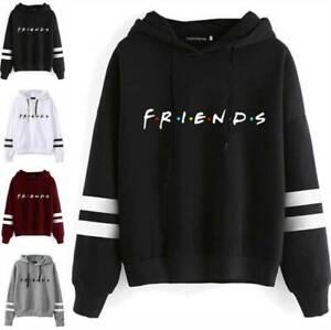 Women Friends Printed Hoodie Long Sleeve Hooded Sweatshirt Pullovers