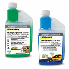 Karcher Combo Quart Size Vehicle and Multi-Purpose Pressure Washer Detergent Kit