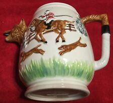Fox Hunt Hunting Fox Head Spout Large Water Pitcher Sigma