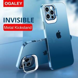 Soft Case Hülle für iPhone 12 und 11 Reihen / Metallstand und Ringhalter 4 Farbe