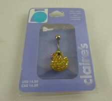 Body Jewelry belly button naval ring piercing body Ducky crystal yellow duck