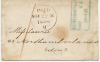 """GB 1848 """"CASTLE DOUGLAS"""" boxed/dated in blue together with red manuscript """"1"""""""