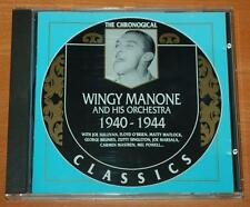 Wingy Manone The Chronogical - 1999 French Classics Records CD