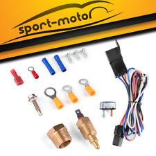 New Electric Cooling Fan Thermostat Sensor Temperature Switch Wiring Relay Kit