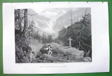 SWITZERLAND Forest of St Pierre Napoleon Accident - SCARCE 1836 Antique Print