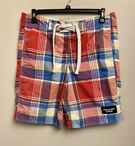 Abercrombie & Fitch Men's Size Large Swimming Trunks Multicolor Plaid