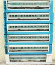 Märklin 2x 4258,2 x 4259,4260, 42931 , 6 Pieza de Plata DB Epoche 4/6 con la Luz