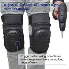 Silicone Knee Pads with Gel Padding Adjustable Straps for Gardening Construction