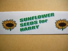 FUN GAME / PARTY BAG / GROW and LEARN – 10 SUNFLOWER SEEDS in PERSONALISED PACK