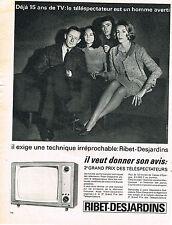 PUBLICITE ADVERTISING  1964    RIBET-DESJARDINS  téléviseur 1