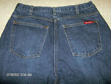Mens Dickie Jeans Dark Blue Denim 34-32  Pre Owned Zip Button 5 pocket red tag