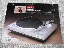 Akai AP-101 turntable brochure catalogue
