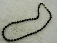 Faceted Black Glass Bead Necklace (D10)