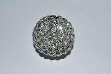 New! 60mm Large Rhinestone Silver Crystal Ball Bead  - BB2