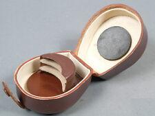 Voigtl. Lederbehälter+ Einsatz f. 3 Filter+1 Geli 41mm!