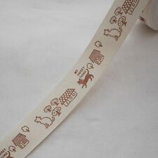 Cotton Fabric Ribbon Trim - Sewing Label - Cat - Home