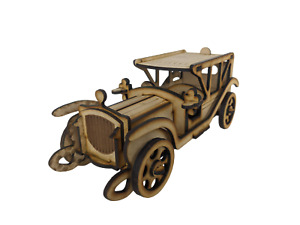 3D Wooden Puzzle, Craft Model Kit for Adults and Kids, Vintage Limousine