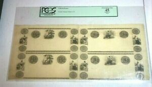 ND/1800's Unused Uncut Obsolete Currency $61/4 & $121/2 PCGS XF 45   (905)