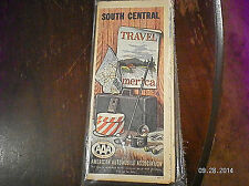 "1962   AAA  "" SOUTH CENTRAL U S A"" ROAD MAP"