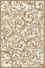 "8x11 Radici Ivory Swirls Curls Hoops Floral Area Rug 1845 - Aprx 7' 10"" x 10' 6"""