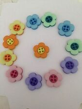 DRESS IT UP Sew Cute Two Part Pansy Flower Novelty Buttons