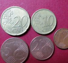 *Mixed LOT of  5 EURO COINS, Circulated  20, 10, 5, 2 and 1 CENTS, Coin Lot #7