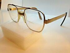 American Optical Safety Aviator Sunglasses Z87 Glasses Goldtone Metal Frame Vtg