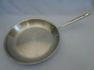 """ALL-CLAD Stainless Steel 12"""" Inch Saute Frying Pan Skillet Metalcrafters USA"""