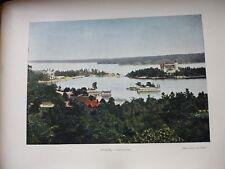 SUEDE/NORVEGE:Gravure 19°in folio couleur/ SALTSJOBADEN
