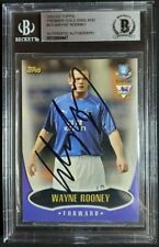 2002-03 Topps Premier Gold Wayne Rooney Signed Rookie Card Autograph RC Auto BAS