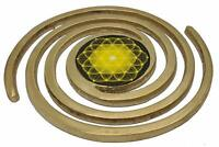 "Vastu Super Helix Brass 5"" Vastu Balance Protect From Bad Omen & Emf"