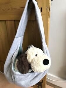Trixie - Puppy Grey Marl & Duck Egg Soft Shoulder Front Carrier Sling Papoose
