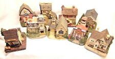 9 Liberty Falls 1800s Town Americana Tavern Church Bank School & 5 Pewter People