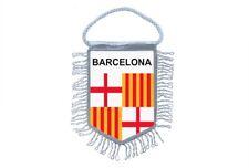 Banderín Mini Bandera País Coche Recuerdo Blasón España Barcelona