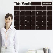 Mensual Pizarra Calendario Pegatinas Etiqueta Engomadas decoración pared
