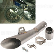 Motorcycle Exhaust Muffler Tail Pipe w/ Silencer Slip On / Welding on Modified