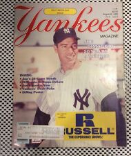 New York Yankees Magazine August 1985 Joe DiMaggio Address Old Timers Day Issue