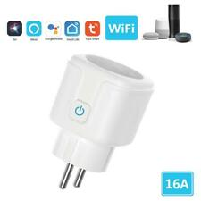 Tuya WiFi Smart Socket EU Plug Remote Timing Outlet Adapter Voice Control