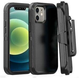 For iPhone 13 12 11 8 Heavy Duty Belt Clip Stand Cover Military Grade Armor Case