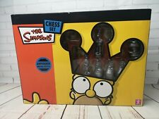 The Simpson Chess set, Antique Metal Style, made by Character, Bart, Homer etc